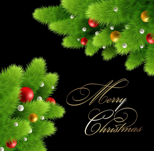 Рождественская ель черная