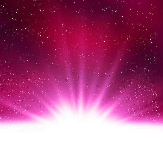Блестящий абстрактный волшебный фиолетовый светлый фон