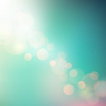 設計のための柔らかい抽象的な夏の光
