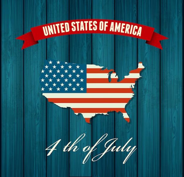 アメリカ独立記念日。フラットデザイン