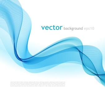 抽象的なカラフルな背景の青い煙の波