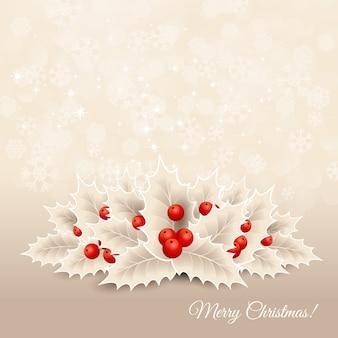 ホリーとクリスマスの背景