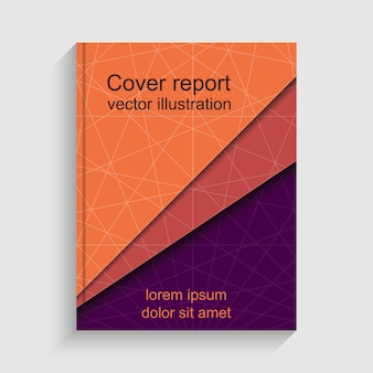現代の抽象的なパンフレット。年次報告書をカバーします。