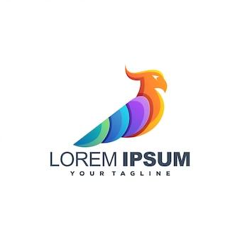 Потрясающий попугай цветной логотип