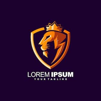 Шаблон логотипа льва