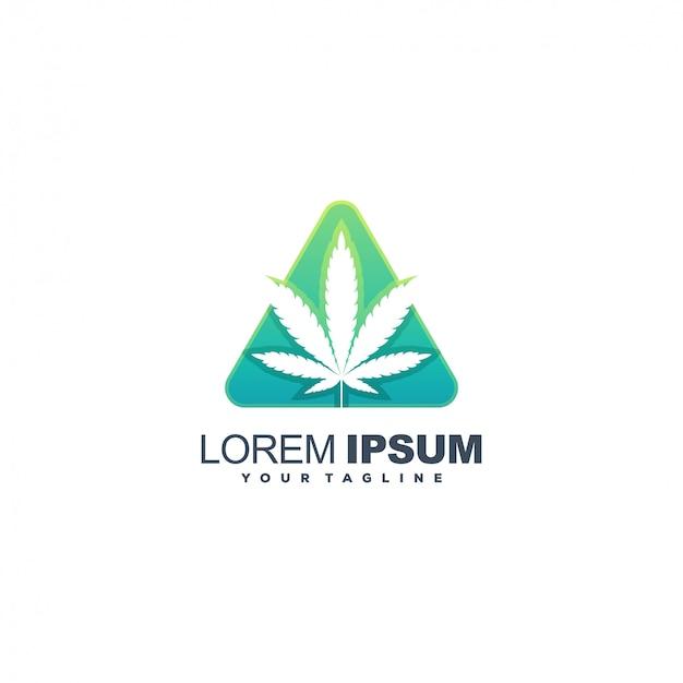 Абстрактный дизайн логотипа цвета каннабиса