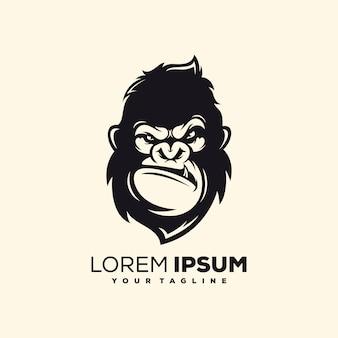 素晴らしい猿のロゴデザインのベクトル