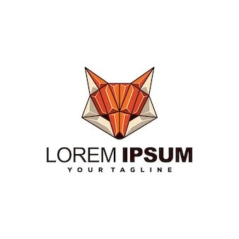 Удивительный геометрический дизайн логотипа лиса