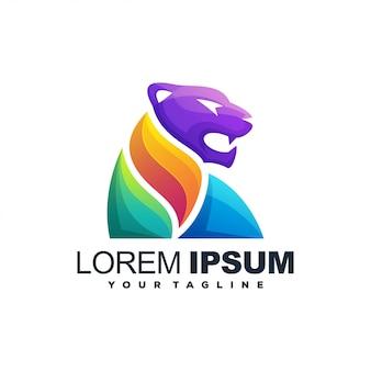 Потрясающий тигровый цветной логотип