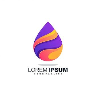 Потрясающий акварельный логотип