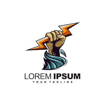 Шаблон логотипа гром