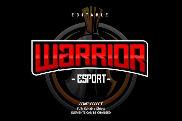 Воин эспорт текстовый эффект
