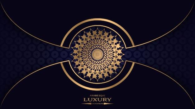 Роскошная мандала с золотым узором арабески в арабском исламском восточном стиле