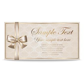 Подарочная карта, сертификат, купон, шаблон приглашения