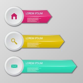 Стеклянные шаблоны для инфографики