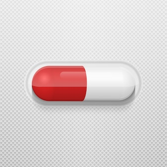 ブリスターパックのベクトル錠剤。