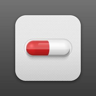Вектор таблетки в блистерной упаковке.