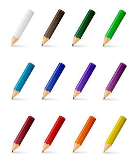 Векторные цветные карандаши