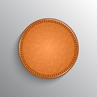 Реалистичный кожаный лейбл