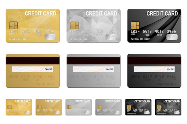 メタリッククレジットカードセット