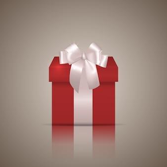 Подарочная коробка с лентой и бантом.