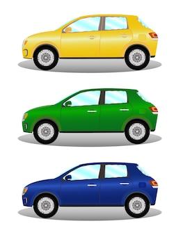 Автомобильный комплект хэтчбек в трех цветах