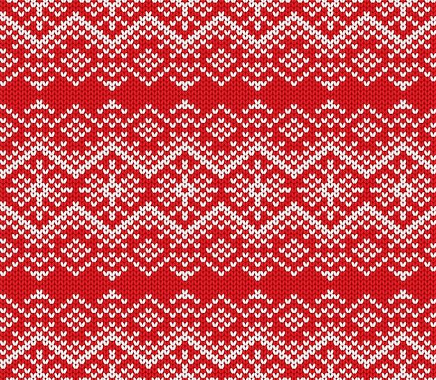 ニットジャンパーの幾何学的な装飾デザイン。シームレスパターン。