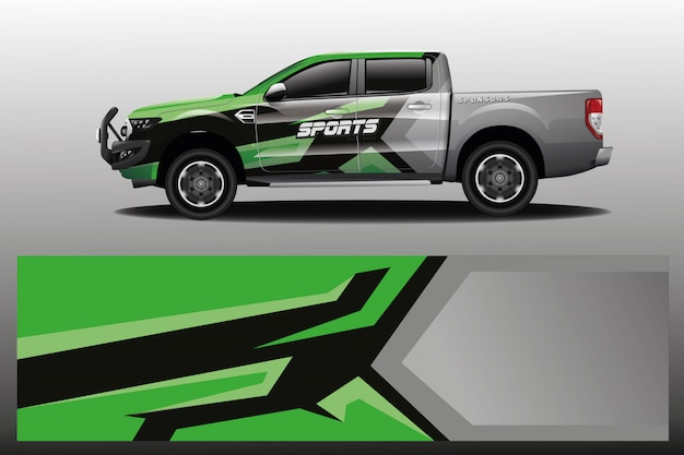 会社のトラックカーラップデザイン