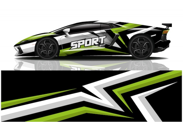 Наклейка на спортивный автомобиль, ливрея автомобиля