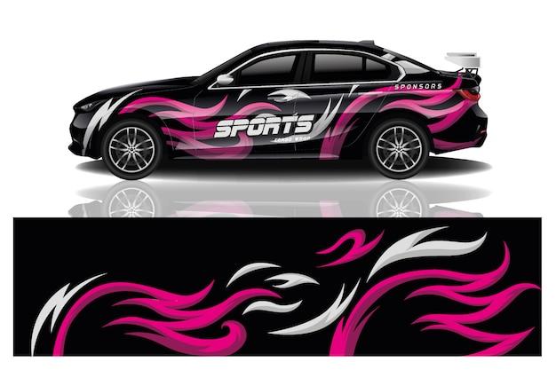 スポーツ車デカールラップデザインベクトル