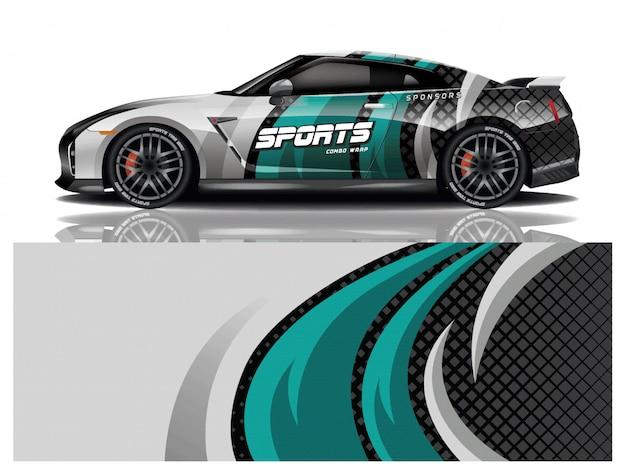 Наклейка на спортивный автомобиль