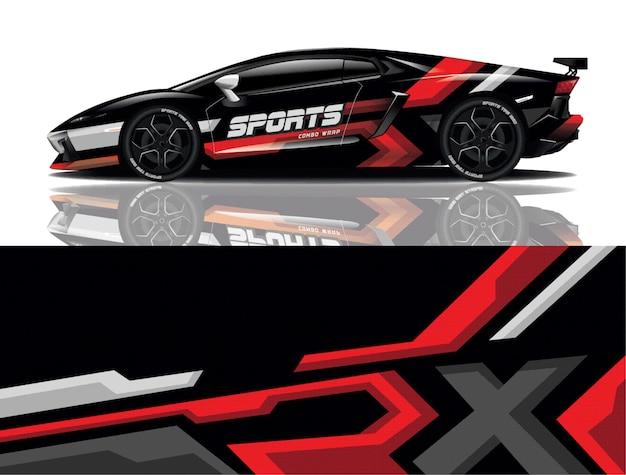 Дизайн наклеек для спортивных автомобилей