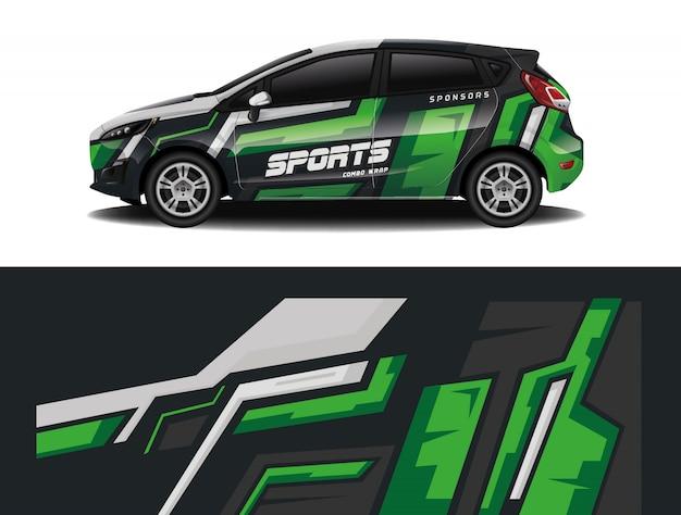 スポーツカーデカールラップ