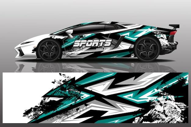 スポーツ車デカールラップ図
