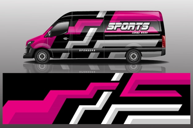 Фургон автомобиль наклейка иллюстрация