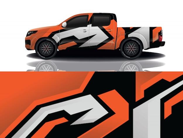 Грузовик автомобиль наклейка иллюстрация