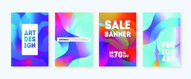 Динамический цвет современной жидкости формирует продажи баннеров.
