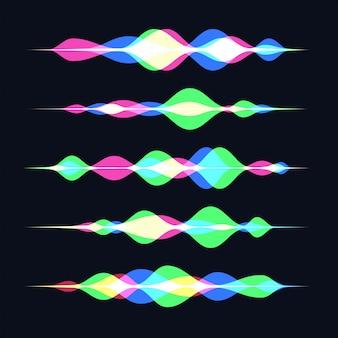サウンドウェーブインテリジェントテクノロジー。パーソナルアシスタントと音声認識の概念