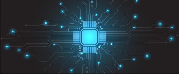 ハイテク未来抽象的なネットワークサイエンス接続技術ラインとドット背景