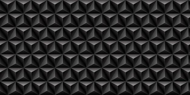 黒い三角形のパターンの背景。