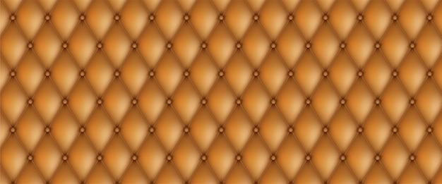 装飾的な室内装飾品のキルトの背景。現実的な革の質感のソファの背景。