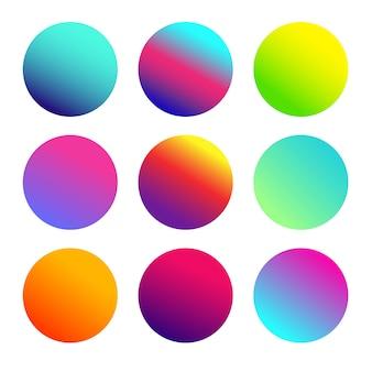 Кнопка многоцветного шара с закругленными углами