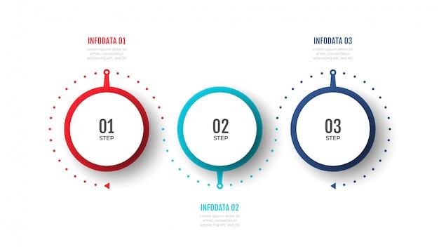 タイムラインインフォグラフィックデザインのベクトルは、ワークフローのレイアウト、図、プレゼンテーションに使用できます