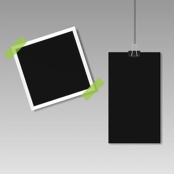 写真の透明な背景に画像フレームテンプレートのイラスト