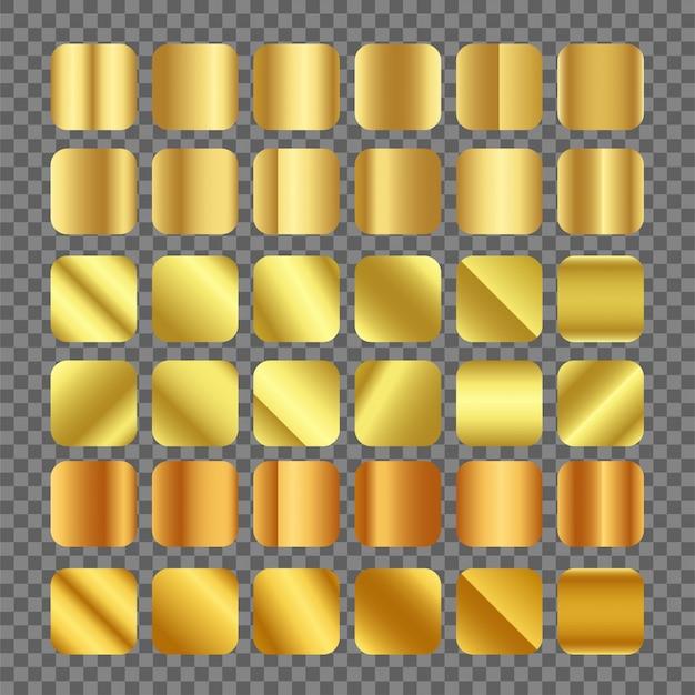 透明な背景にゴールドグラデーションベクトル