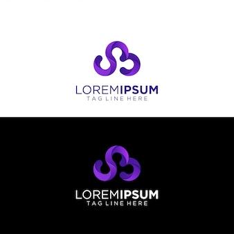 グラデーションで抽象的なロゴ