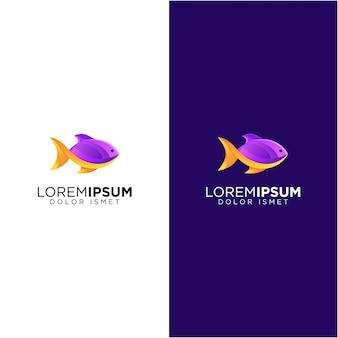 紫色の魚のロゴ
