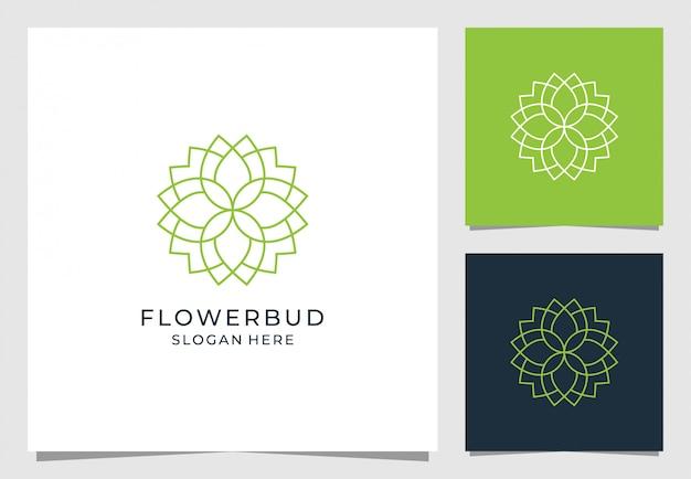 Дизайн логотипа бутон цветка