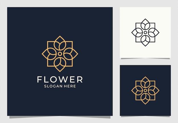 Цветочный логотип в геометрическом стиле