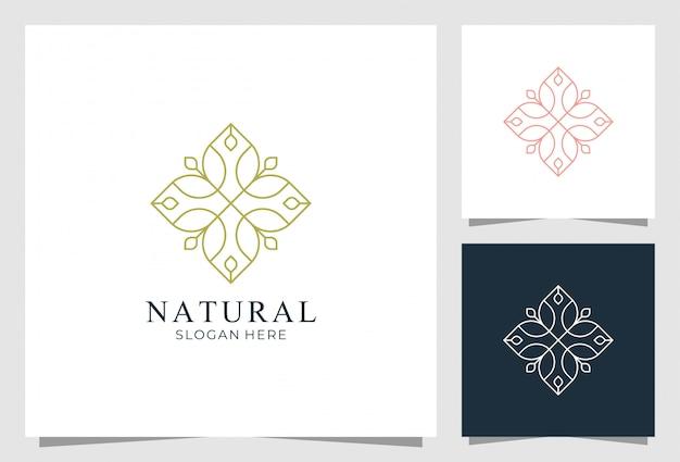 Природа орнамент логотип премиум дизайн